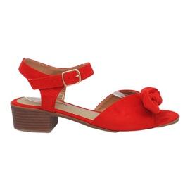 Rood Red Noemia sandalen met hoge hakken