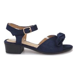 Marine Noemia donkerblauwe sandalen met hoge hakken