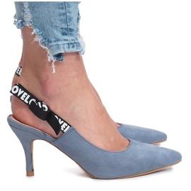 Blauwe sandalen Love Paris