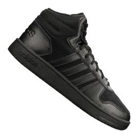 Zwart Adidas Hoops 2.0 Mid M B44649 schoenen