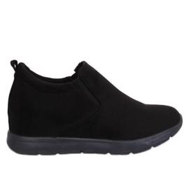 Schoenen op een verborgen sleehak zwart ZY-7K67 Zwart