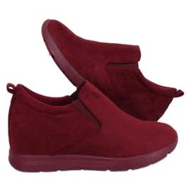 Schoenen op een verborgen sleehak ZY-7K67 Rood