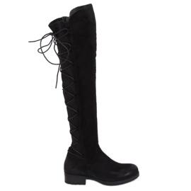 Zwarte laarzen met een elastische bovenste zwarte F2020 Black