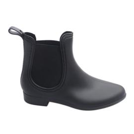 Zwart Korte Wellingtons met elastiek 608 Black