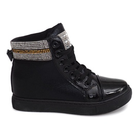 Wedge Sneakers 16-039 Zwart