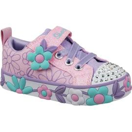 Roze Skechers Daisy Lites Jr 10965N-PKMT schoenen