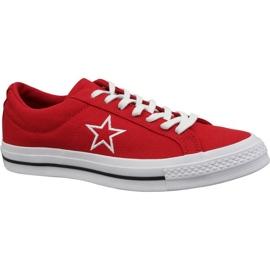 Converse One Star Ox schoenen M 163378C rood