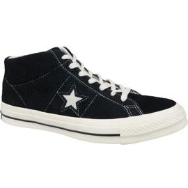 Zwart Converse One Star Ox Mid Vintage Suede M 157701C schoenen