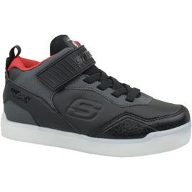 Skechers Energy Lights Jr 90613L-BKRD schoenen zwart