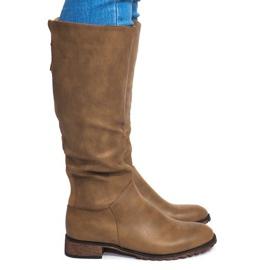 Groen Laarzen met hoge hak BL2830 Khaki