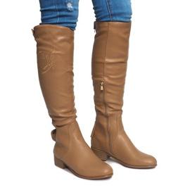 Bruin Hoog geïsoleerde laarzen X453-14 Beige