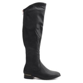 Hoge slanke laarzen A7898-38 zwart