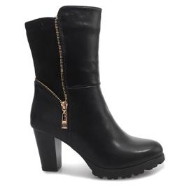 Zwarte laarzen FR59 zwart