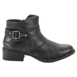 Groto Gogo zwart Laarzen Met Een Decoratieve Gesp