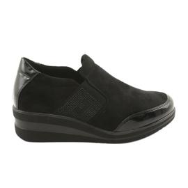 Zwarte schoenen op de wig Sergio Leone 225