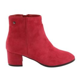 Rode suède laarzen van Filippo 316 rood