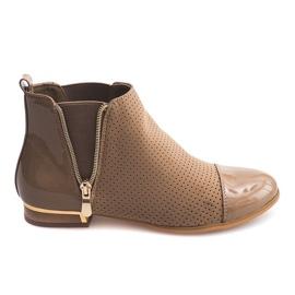 Opengewerkte laarzen 60865-2 Khaki