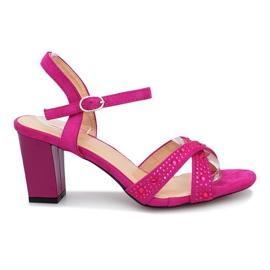 Purper Aliento paarse sandalen met hoge hakken