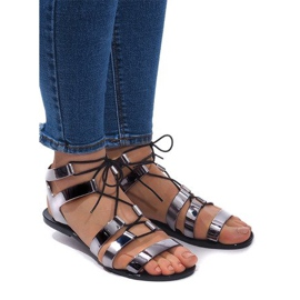Meliski PT-9126 zwarte sandalen