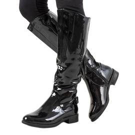 Zwart gelakte laarzen W-90