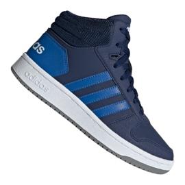 Marine Adidas Hoops Mid 2.0 Jr EE6707 schoenen