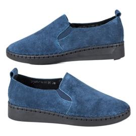 Filippo Leren sneakers instapper blauw