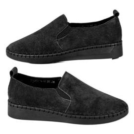 Filippo Leren sneakers instapper zwart