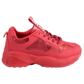 SHELOVET rood Rode Camosneakers