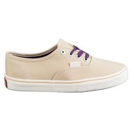 SHELOVET bruin Comfortabele sneakers