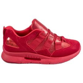 SHELOVET rood Suede sportschoenen