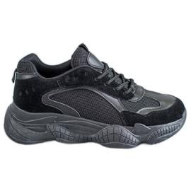 SHELOVET Zwarte sneakers dames