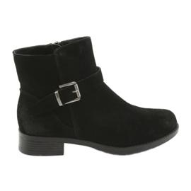 Black American Club suède zwarte laarzen SH04
