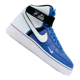 Nike Air Force 1 High LV8 2 Jr CI2164-400 schoenen wit-blauw