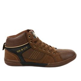 Bruine heren sneakers 15M749