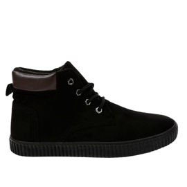 Zwarte geïsoleerde heren sneakers AN06