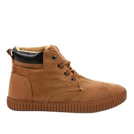 Bruine geïsoleerde heren sneakers AN06