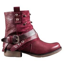SHELOVET rood Laarzen Met Steentjes