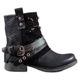 SHELOVET zwart Laarzen Met Steentjes