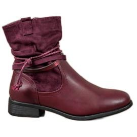 Anesia Paris rood Hoge laarzen