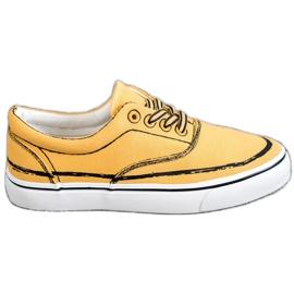 Bestelle geel Modieuze sneakers