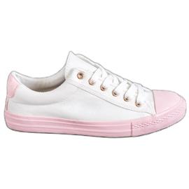 EXQUILY wit Kleurrijke sneakers