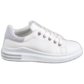 SHELOVET wit Eco lederen sneakers