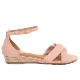 Roze espadrilles sandalen 9R121 Pink II-GAT