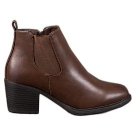 Anesia Paris Bruine Laarzen Op Een Post