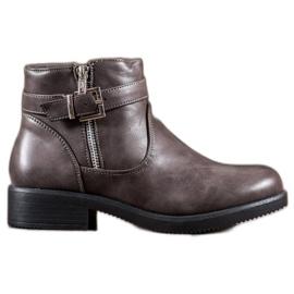 Abloom grijs Grijze laarzen met ecoleer