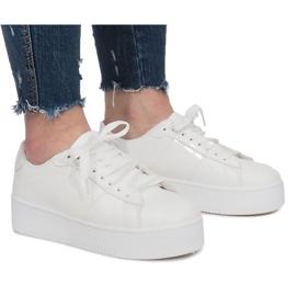 Witte platform sneakers Livet De Lux