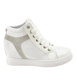 Witte wedge sneakers met AN2959-pailletten