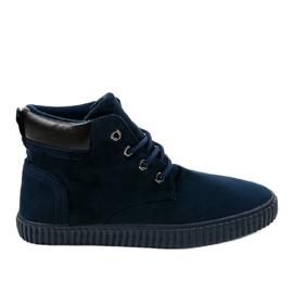 Marine Donkerblauwe geïsoleerde heren sneakers AN06