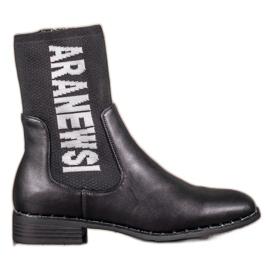 VINCEZA hoge laarzen zwart