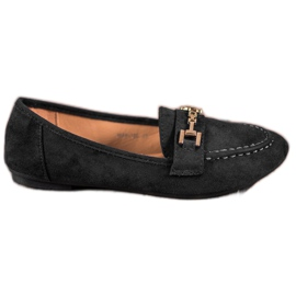 Abloom zwart Suede Lords With Decoration